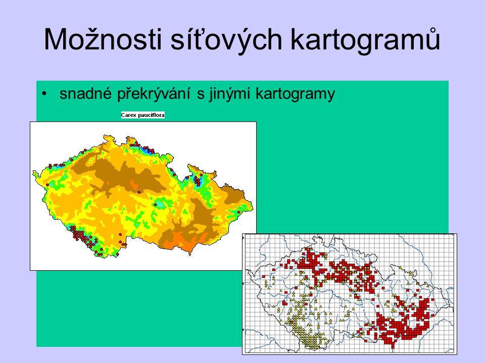 Možnosti síťových kartogramů