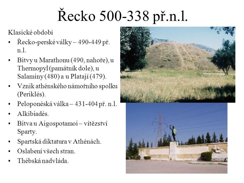 Řecko 500-338 př.n.l. Klasické období