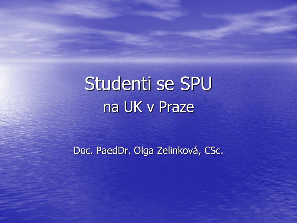 Studenti se SPU na UK v Praze