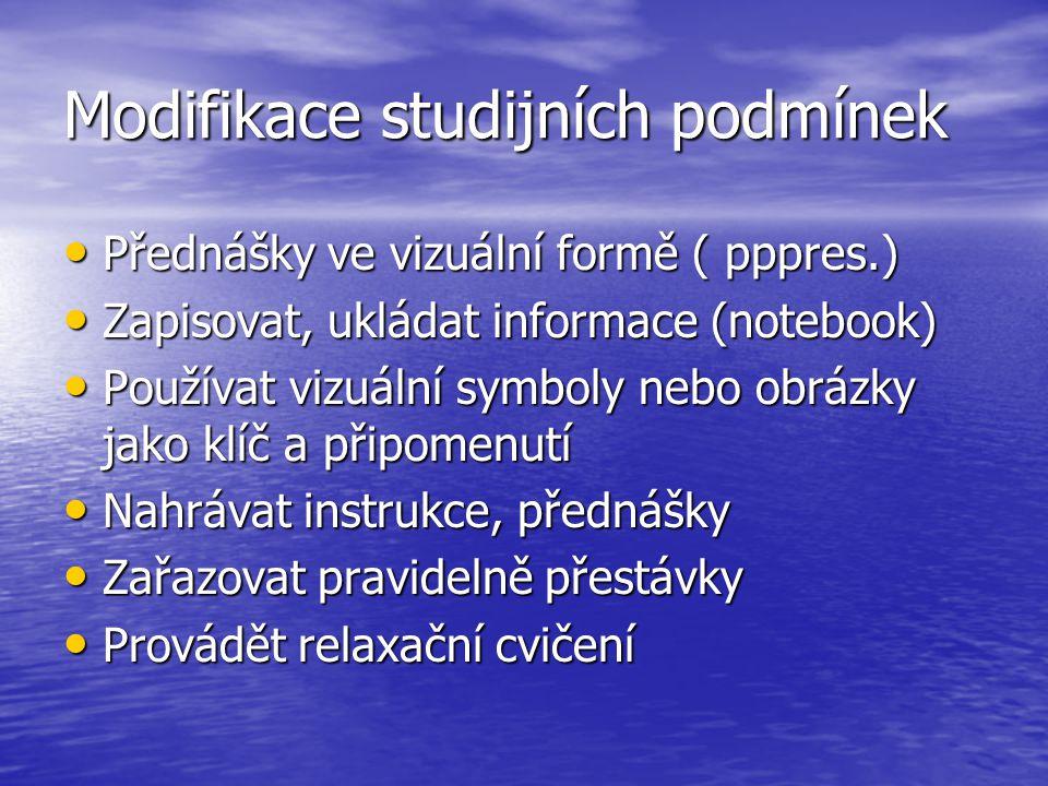 Modifikace studijních podmínek