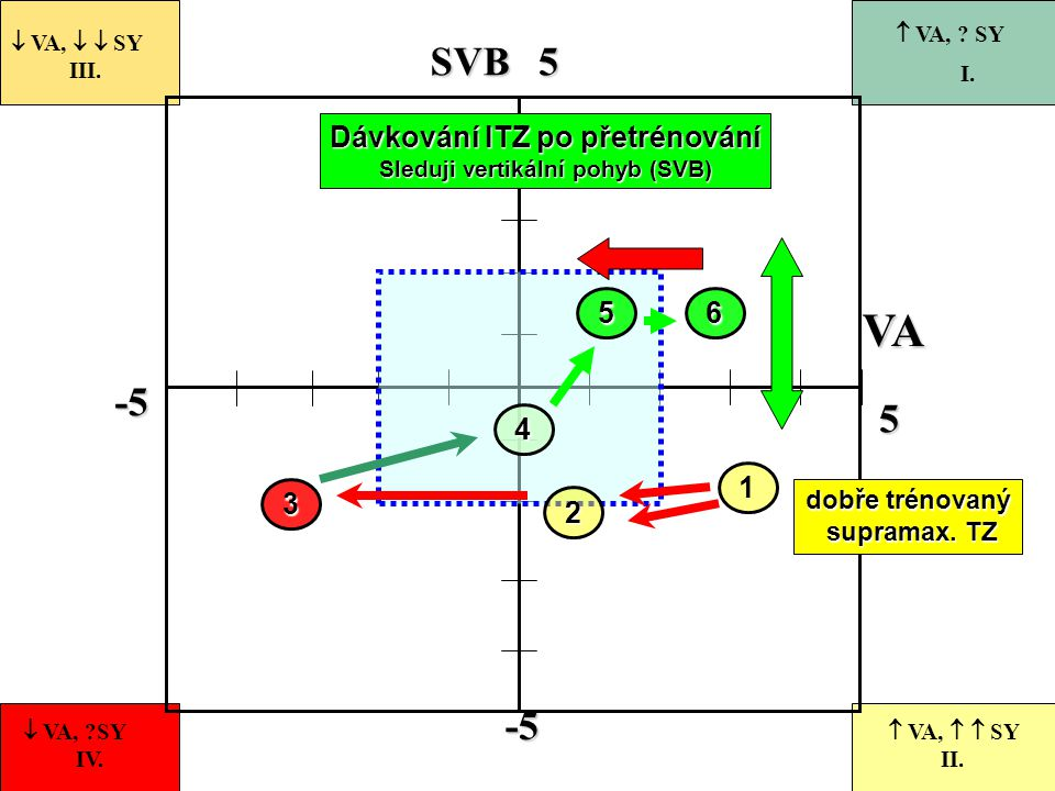 Dávkování ITZ po přetrénování Sleduji vertikální pohyb (SVB)