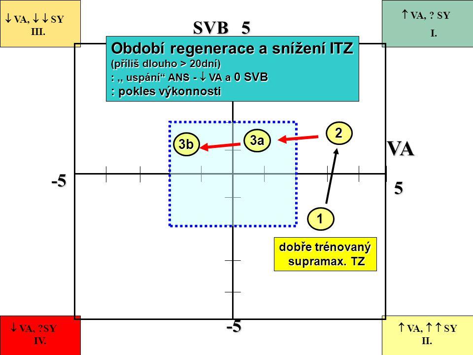 VA SVB -5 5 Období regenerace a snížení ITZ 2 3a 3b 1
