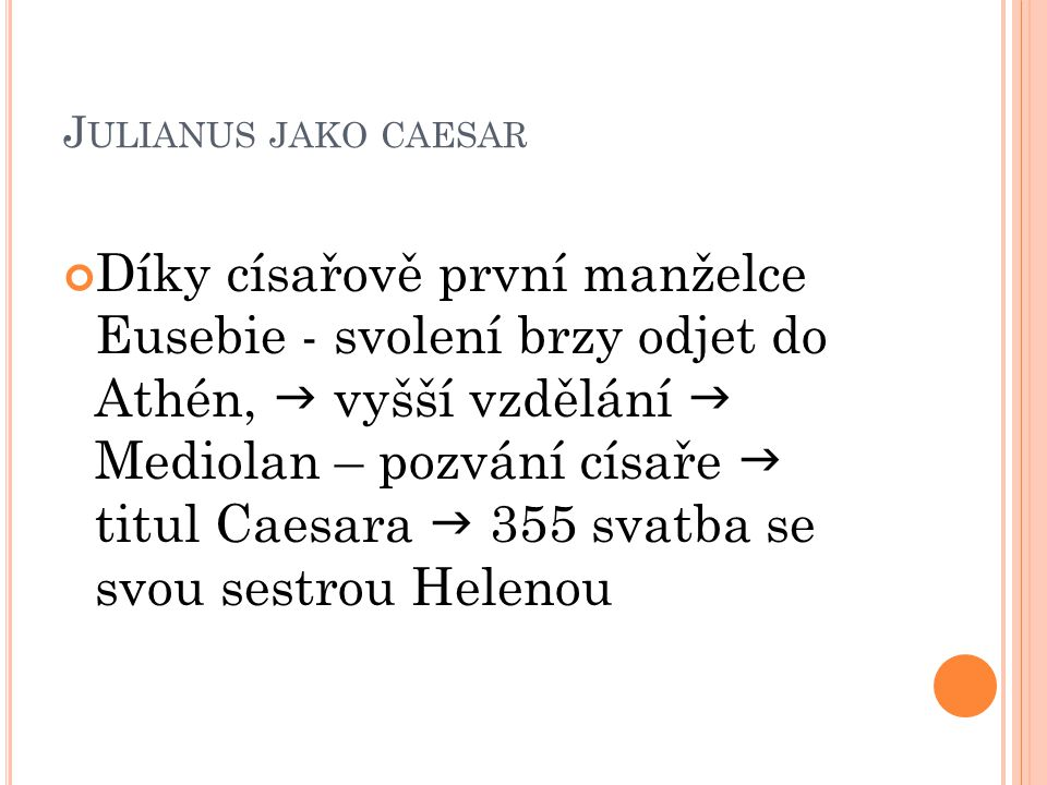 Julianus jako caesar