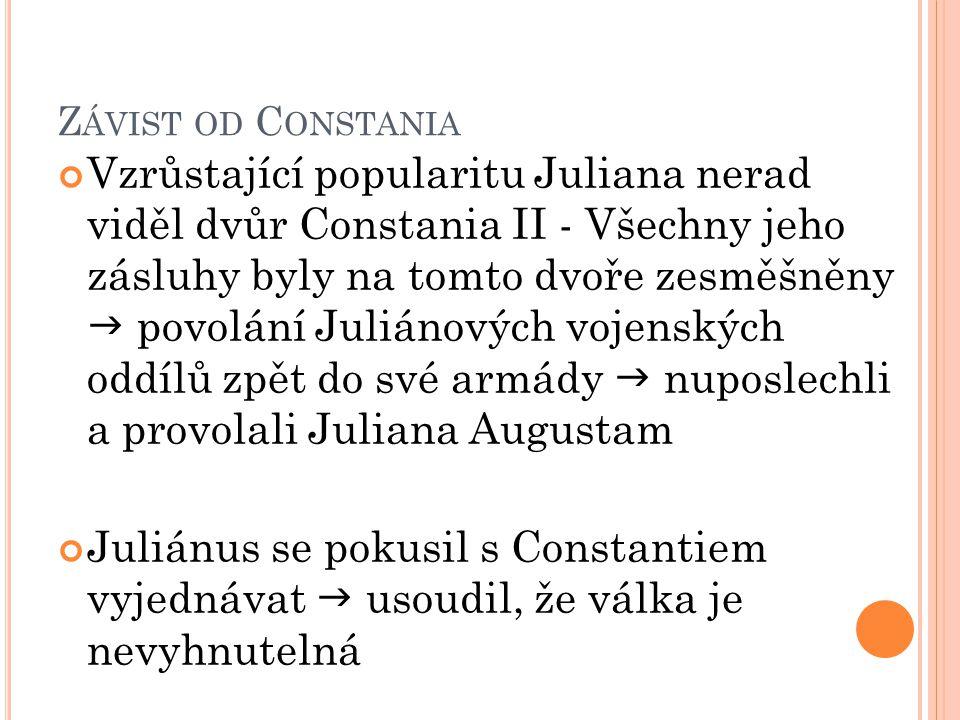 Závist od Constania