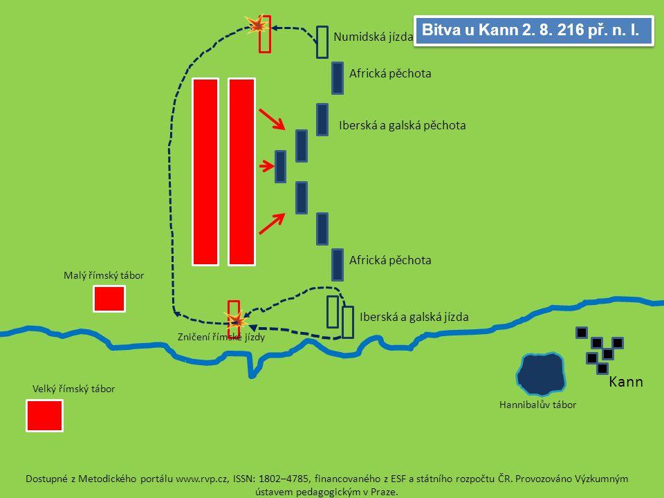 Kann Bitva u Kann 2. 8. 216 př. n. l. Numidská jízda Africká pěchota