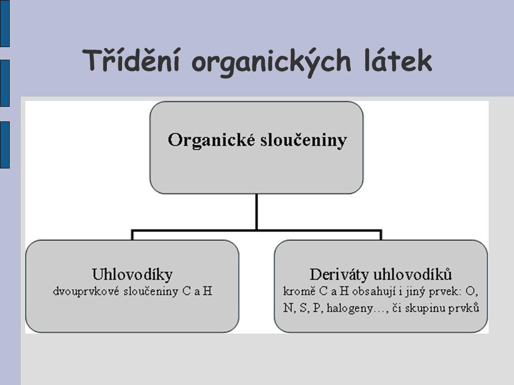 Třídění organických látek