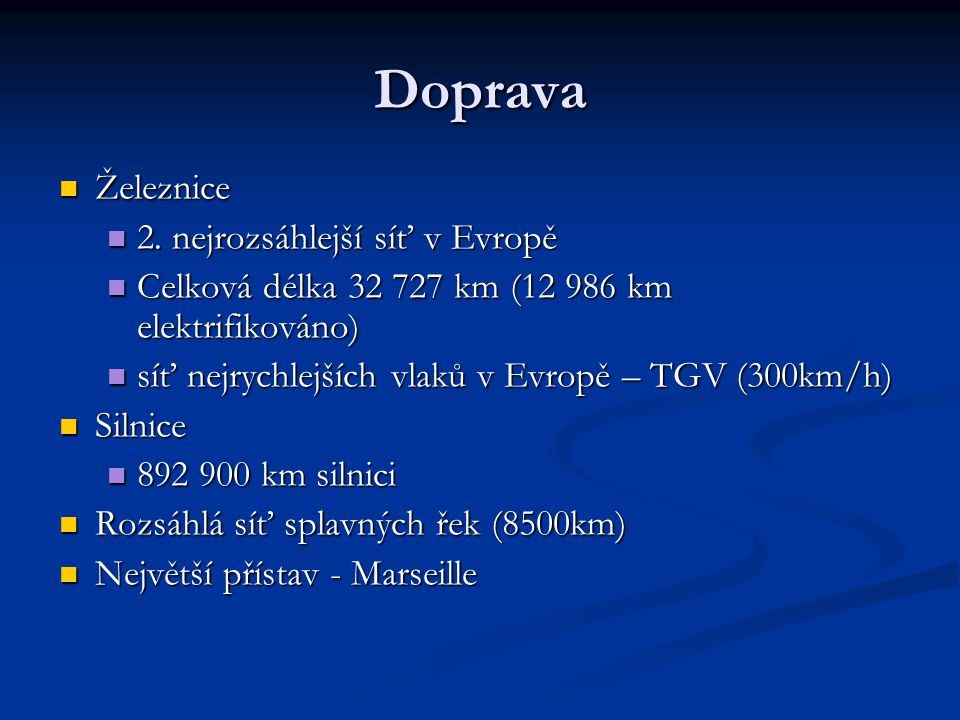 Doprava Železnice 2. nejrozsáhlejší síť v Evropě