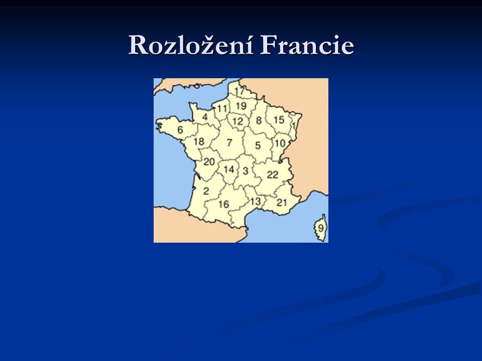 Rozložení Francie