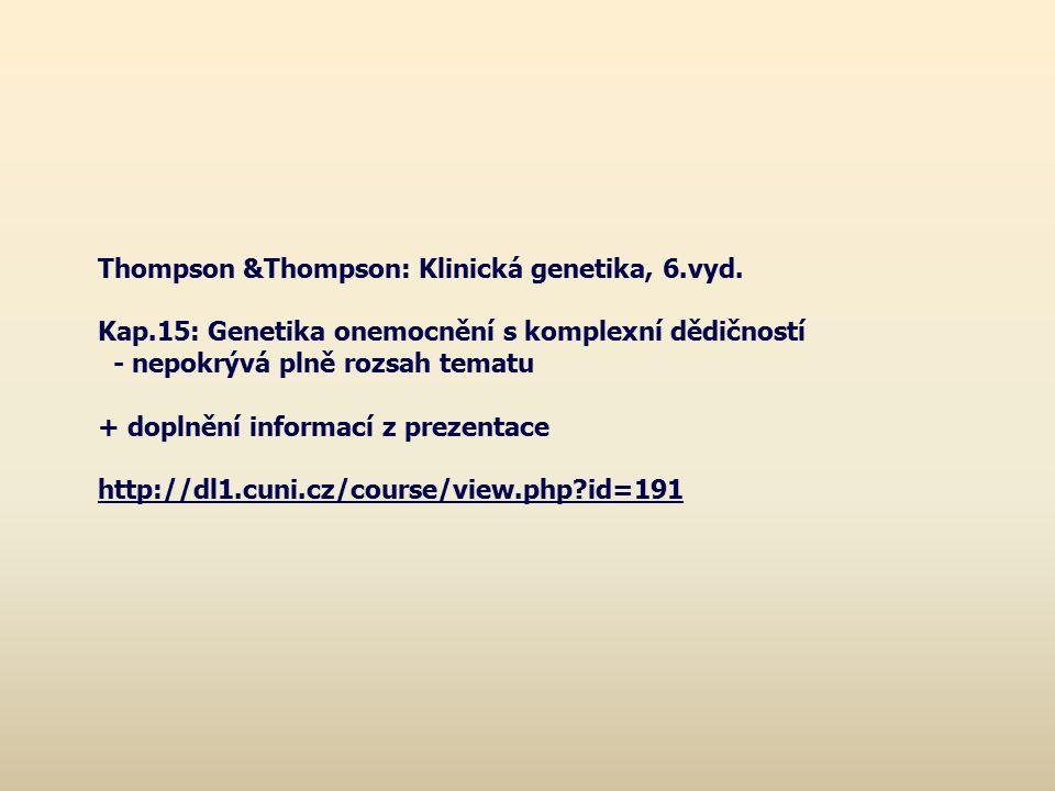 Thompson &Thompson: Klinická genetika, 6.vyd.
