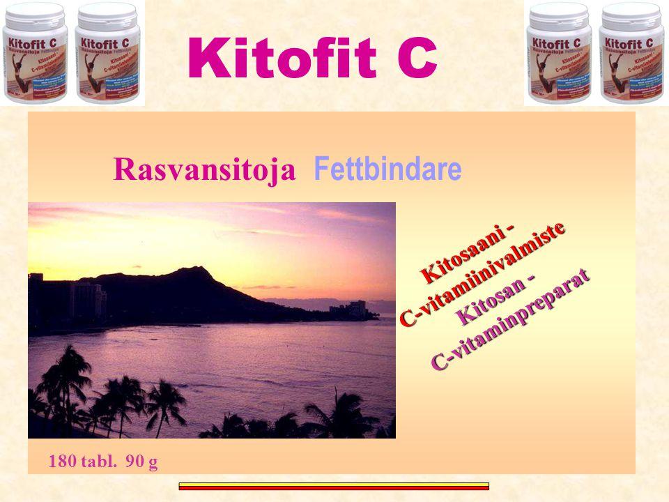 Kitofit C Rasvansitoja Fettbindare C-vitamiinivalmiste Kitosaani -
