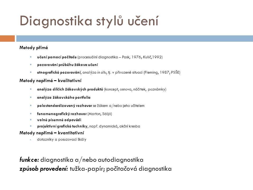 Diagnostika stylů učení