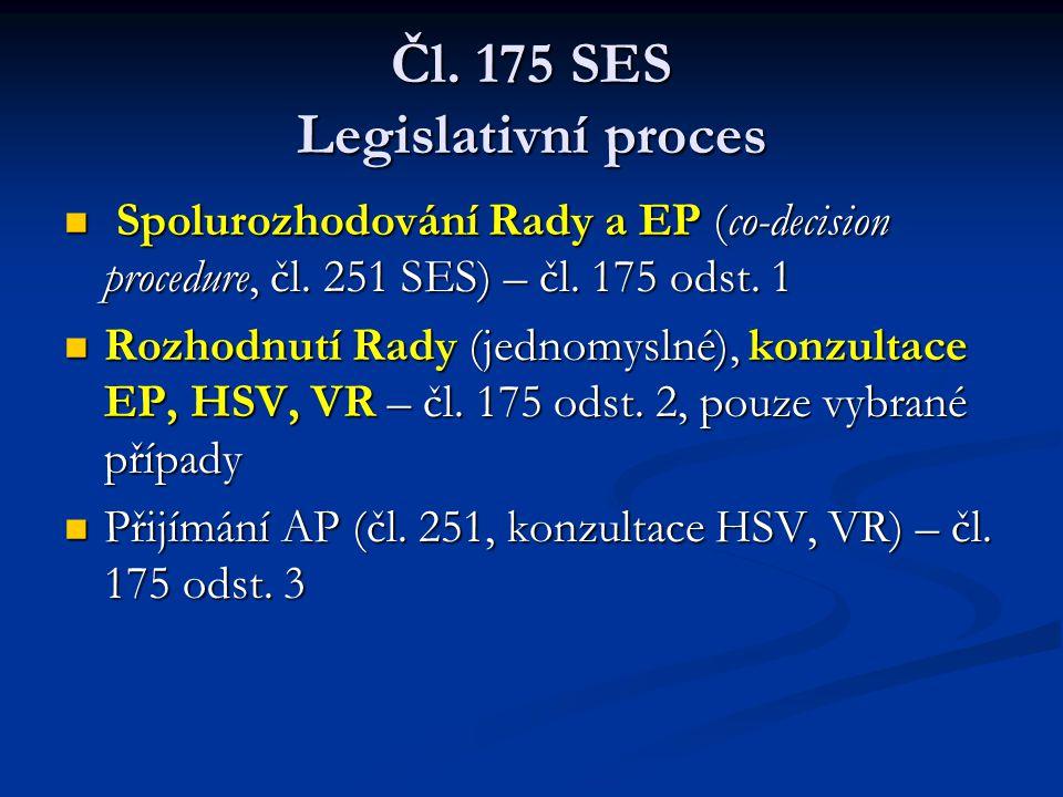 Čl. 175 SES Legislativní proces