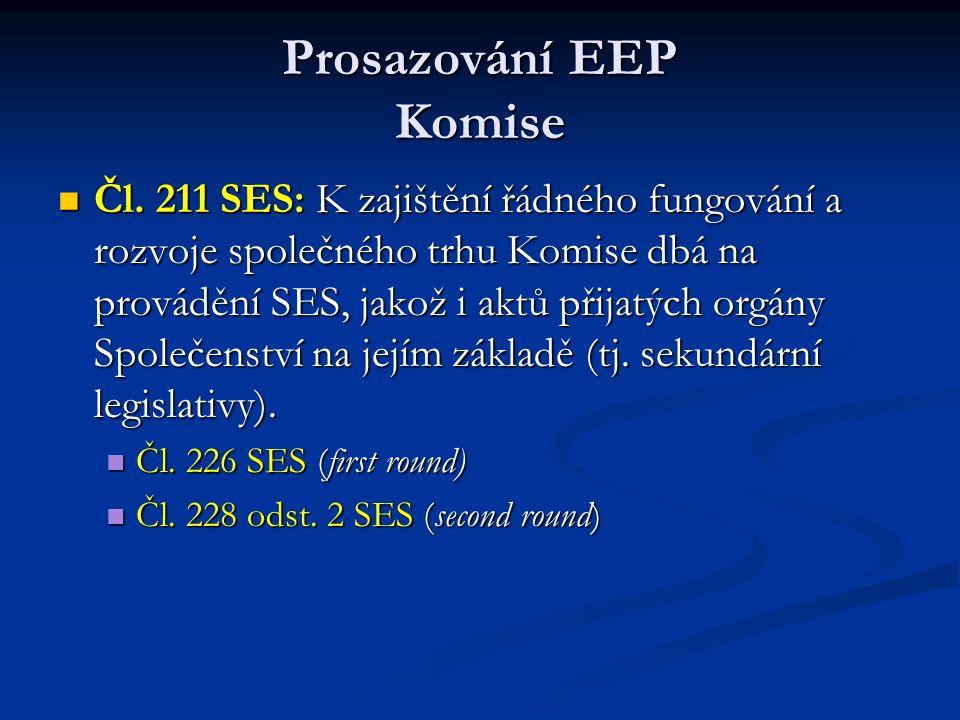 Prosazování EEP Komise