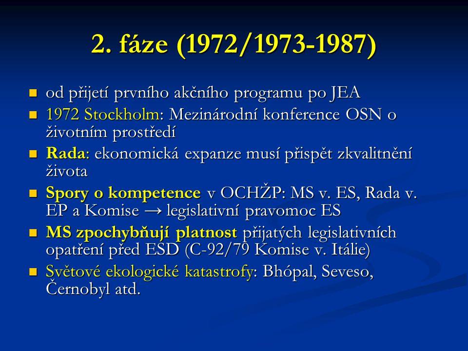 2. fáze (1972/1973-1987) od přijetí prvního akčního programu po JEA