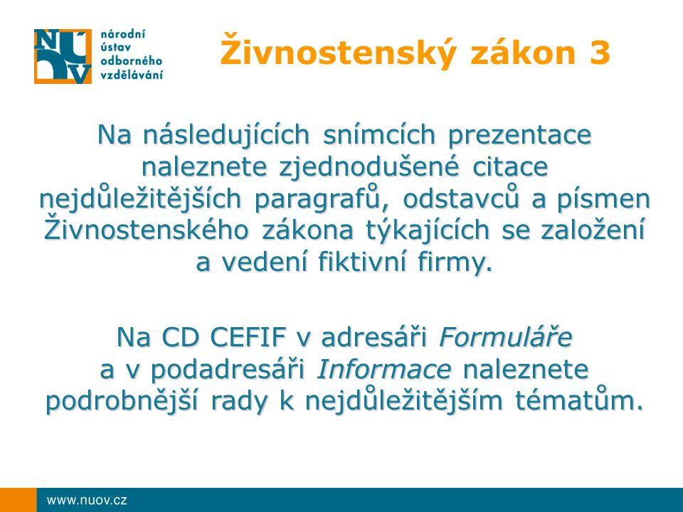 Na CD CEFIF v adresáři Formuláře