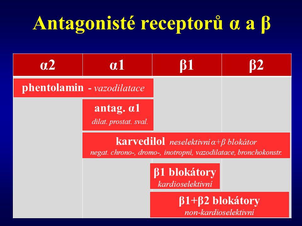 Antagonisté receptorů α a β