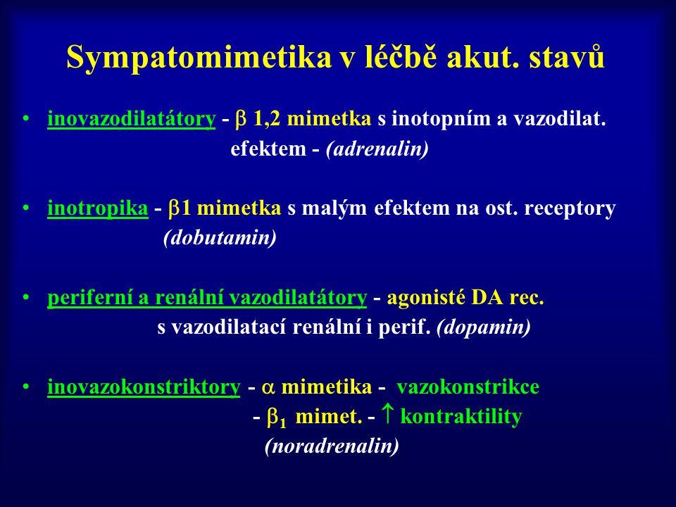 Sympatomimetika v léčbě akut. stavů