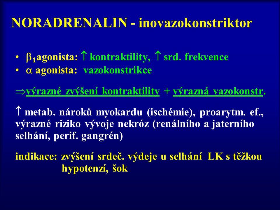NORADRENALIN - inovazokonstriktor