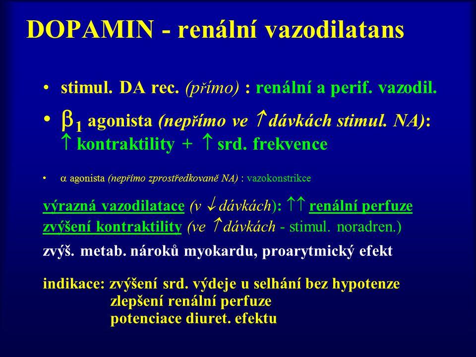 DOPAMIN - renální vazodilatans