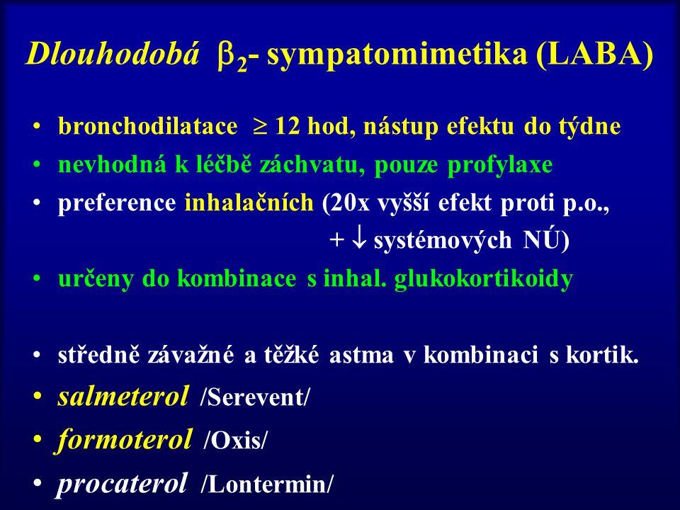 Dlouhodobá 2- sympatomimetika (LABA)