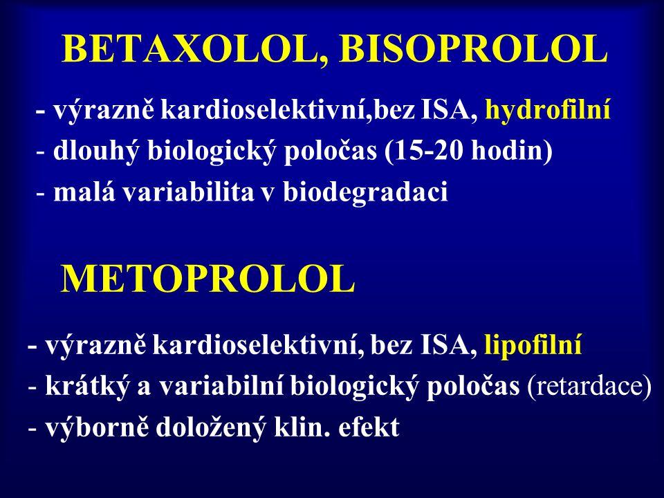BETAXOLOL, BISOPROLOL METOPROLOL