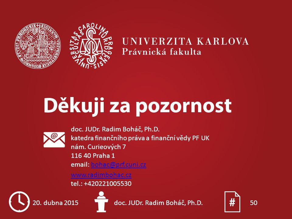 doc. JUDr. Radim Boháč, Ph. D