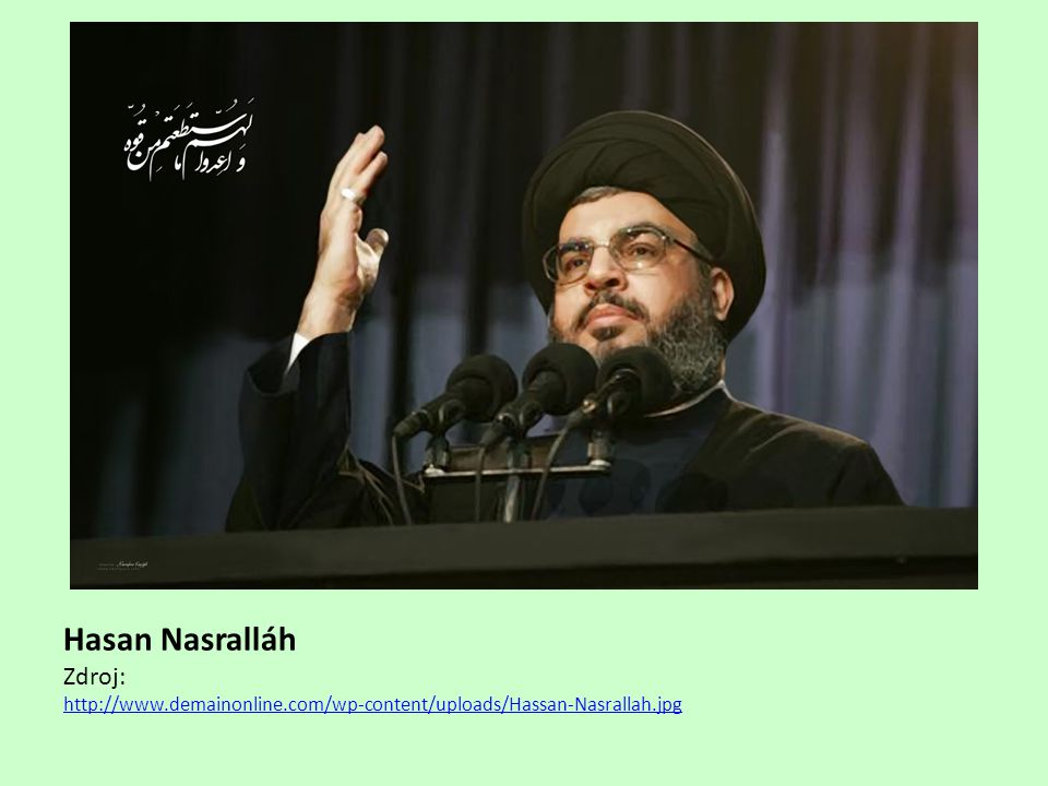 Hasan Nasralláh Zdroj: