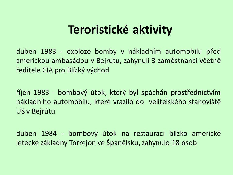 Teroristické aktivity