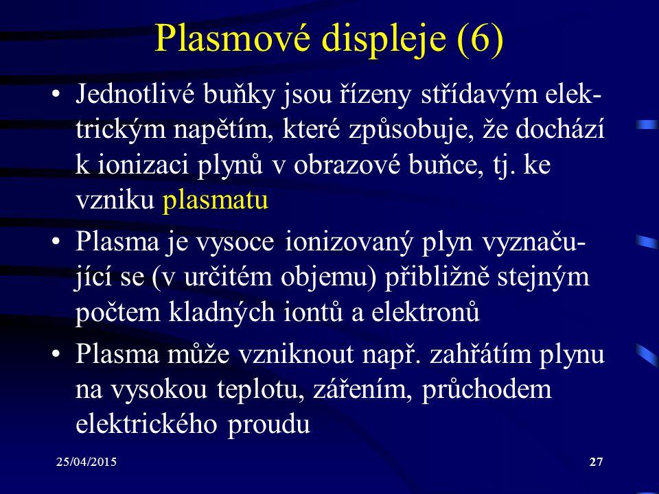 Plasmové displeje (6)