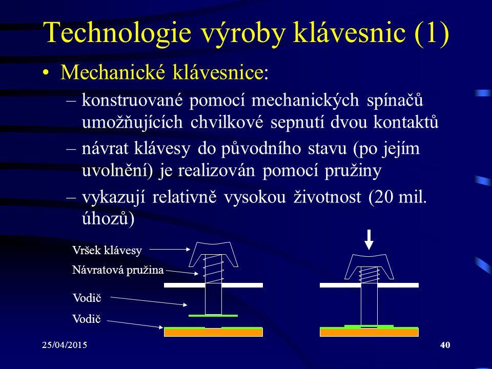 Technologie výroby klávesnic (1)