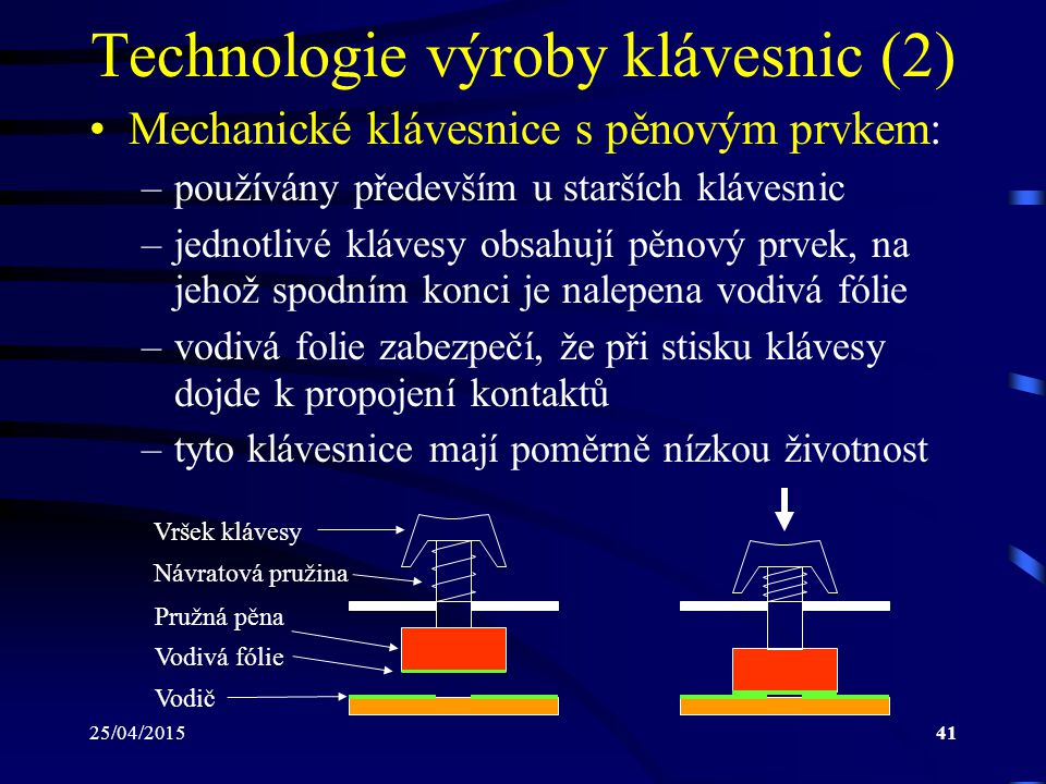 Technologie výroby klávesnic (2)