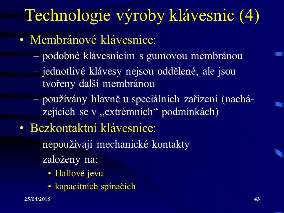 Technologie výroby klávesnic (4)