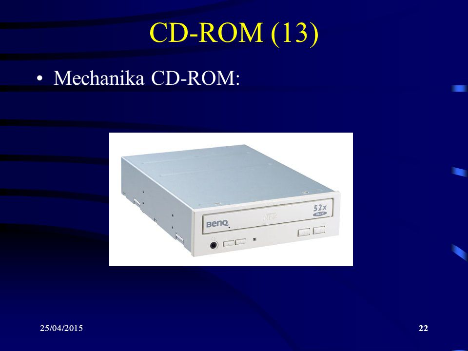 CD-ROM (13) Mechanika CD-ROM: 14/04/2017