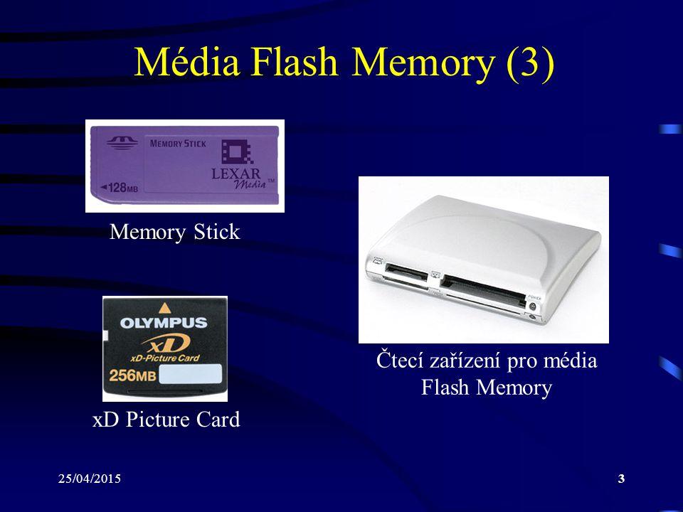Čtecí zařízení pro média Flash Memory
