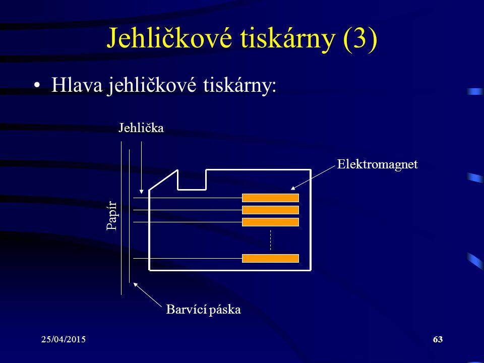Jehličkové tiskárny (3)