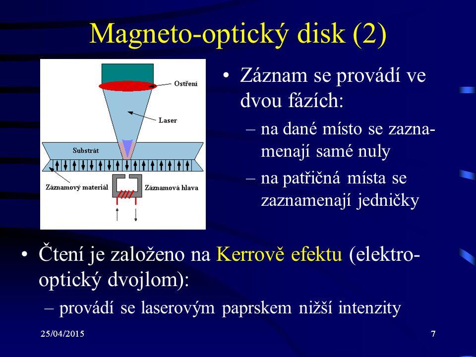 Magneto-optický disk (2)