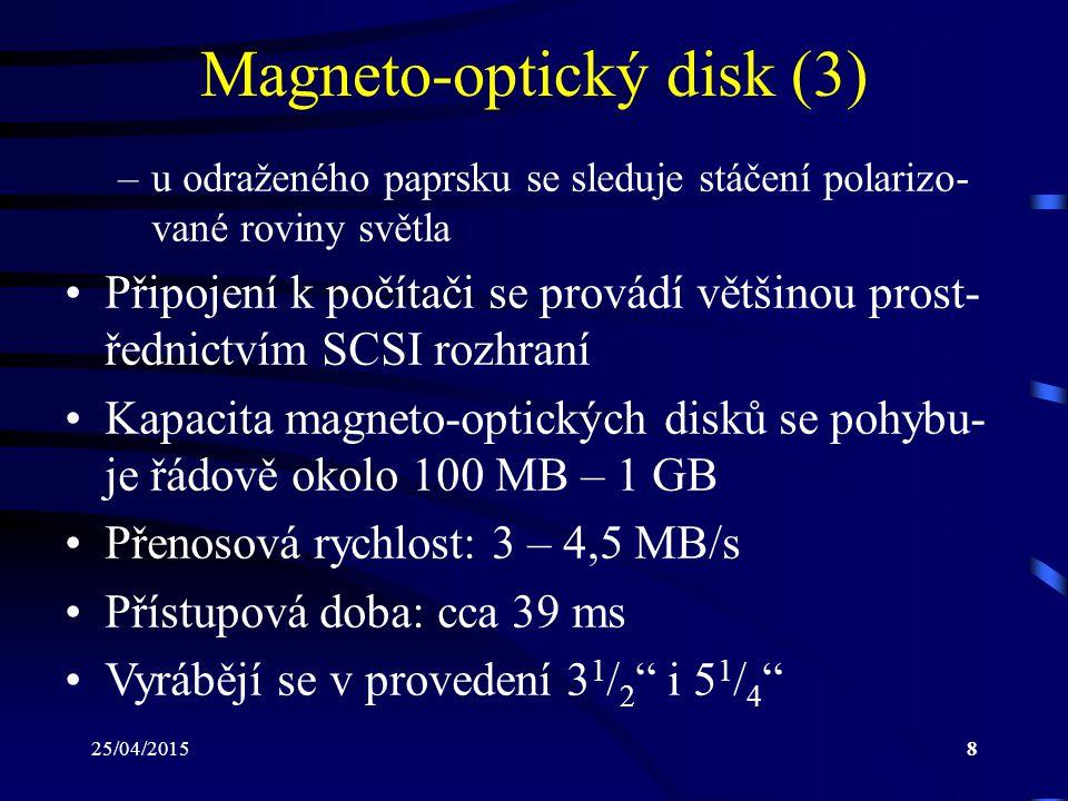 Magneto-optický disk (3)