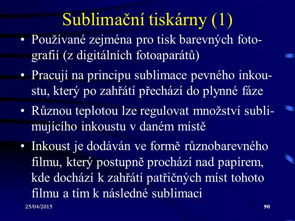 Sublimační tiskárny (1)
