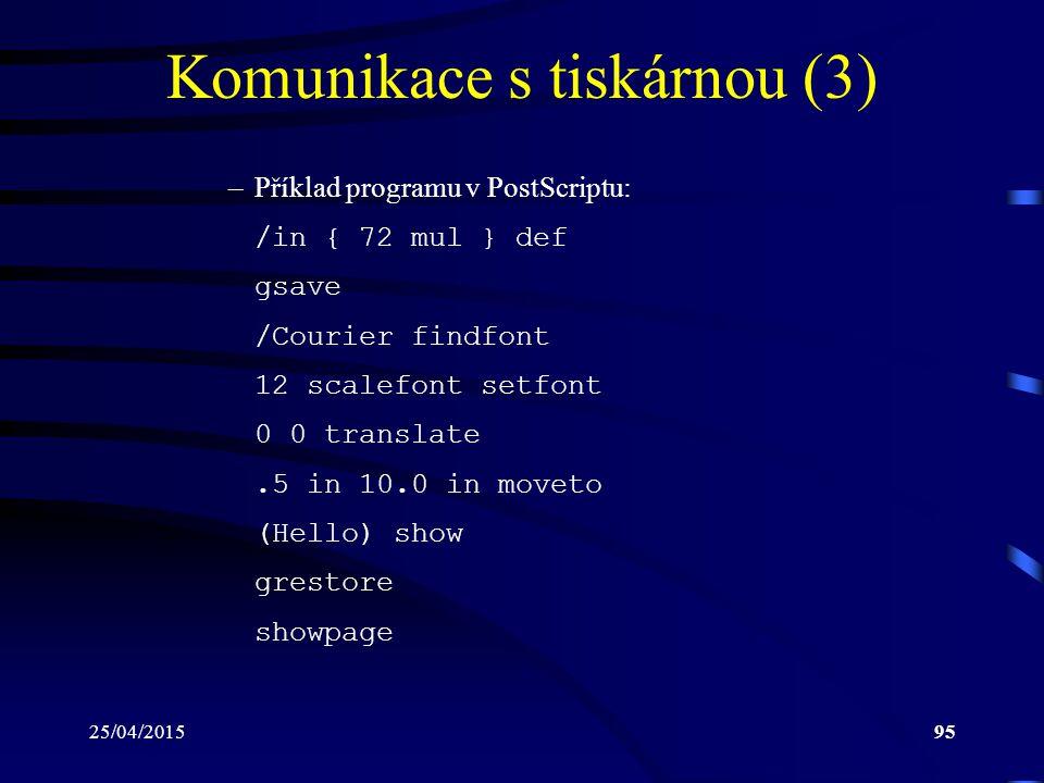 Komunikace s tiskárnou (3)