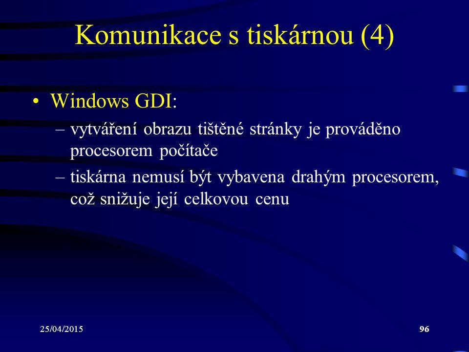 Komunikace s tiskárnou (4)