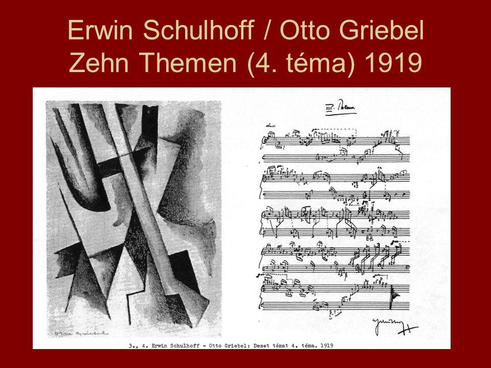 Erwin Schulhoff / Otto Griebel Zehn Themen (4. téma) 1919