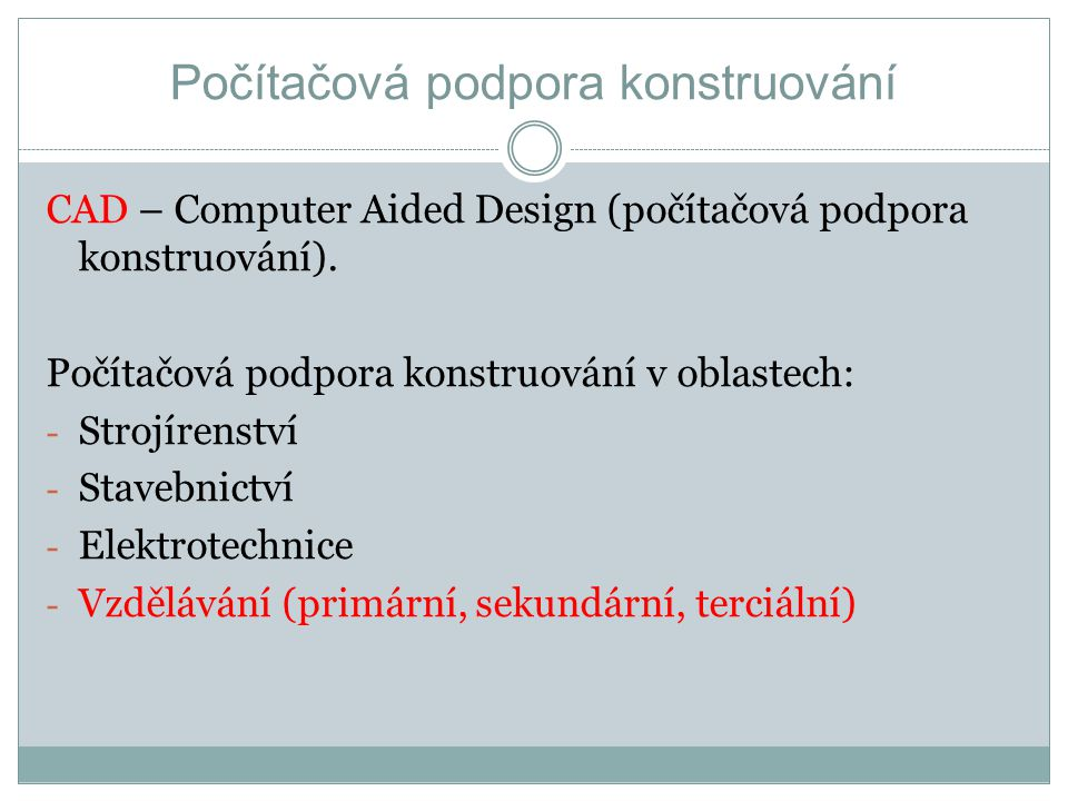 Počítačová podpora konstruování