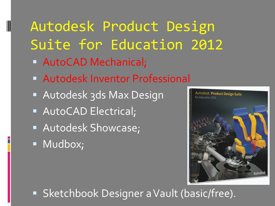 Autodesk Product Design Suite for Education 2012