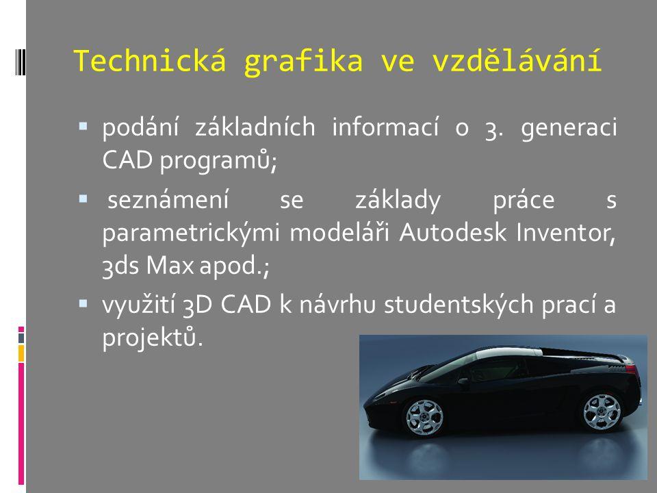 Technická grafika ve vzdělávání