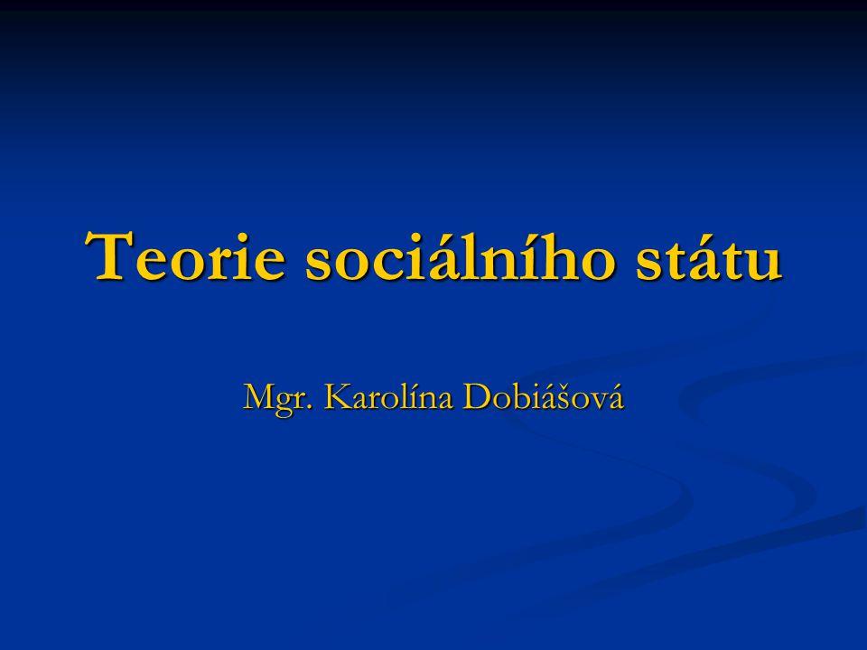 Teorie sociálního státu