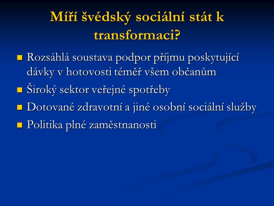 Míří švédský sociální stát k transformaci
