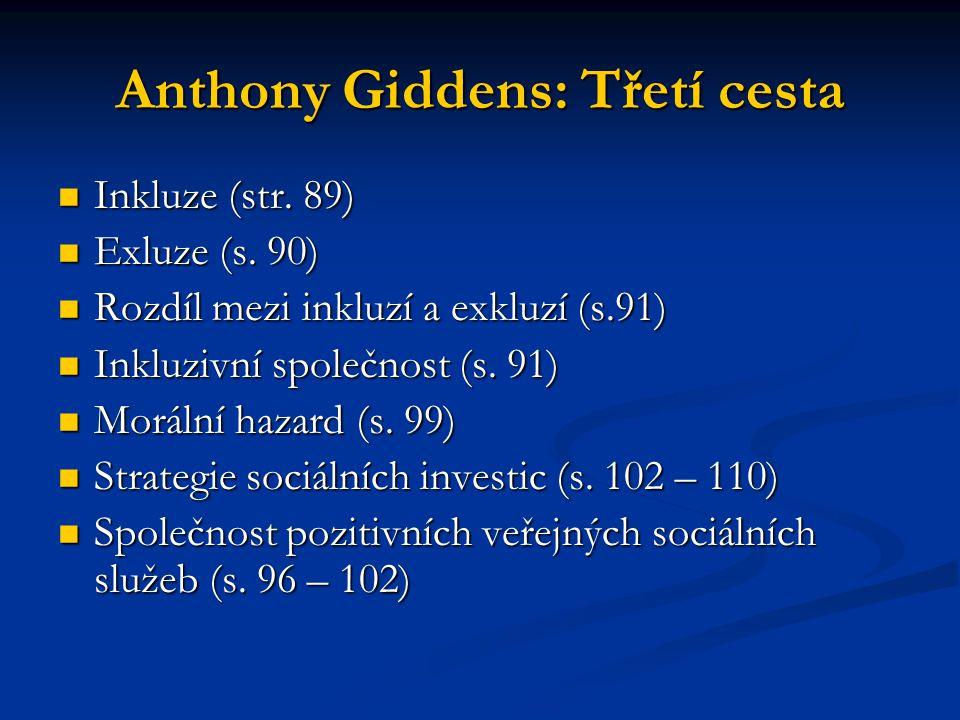Anthony Giddens: Třetí cesta