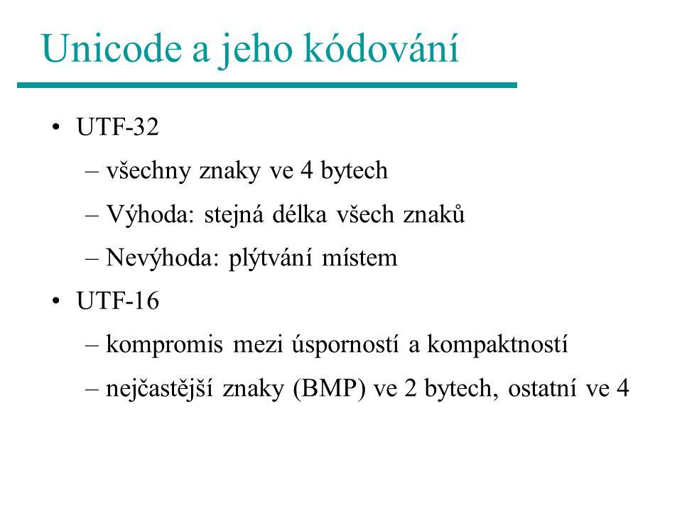 Unicode a jeho kódování