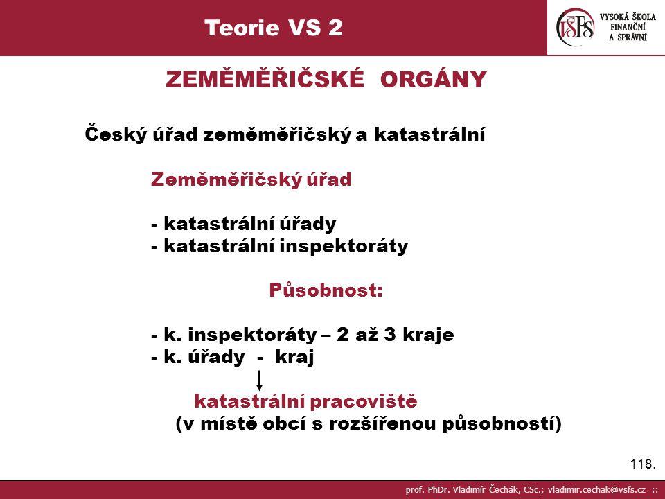 Teorie VS 2 ZEMĚMĚŘIČSKÉ ORGÁNY