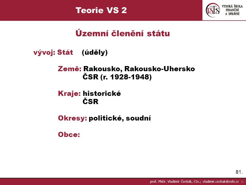 Teorie VS 2 Územní členění státu
